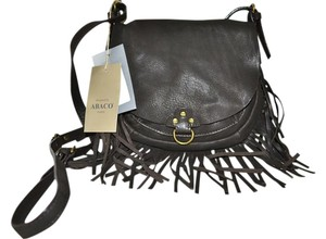 ABACO Saddle Fringe Goat Leather Made In France Cross Body Bag