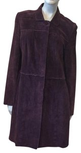 John Carlisle Dark Purple Leather Jacket