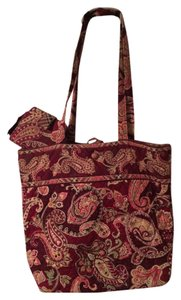 Vera Bradley Retired Wallet Included Matching Wallet Tote in Piccadilly Plum