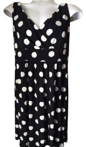 Chaps short dress Black Polka Dots And White Everyday Work on Tradesy