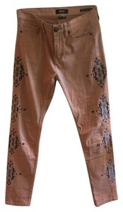 BDG High Rise Jeans Skinny Pants Burnt Pink, Pattern
