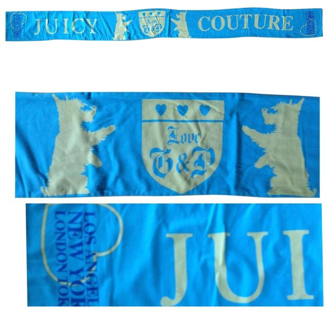 Juicy Couture Turquiose/Yellow Logo Scarf/Wrap Juicy Couture Turquiose/Yellow Logo Scarf/Wrap Image 1