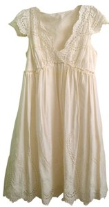 BCBG Max Azria short dress White Eyelet Spring Summer on Tradesy