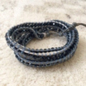 Independent Clothing Co. Chan Luu inspired wrap bracelet - Navy and Sky blue