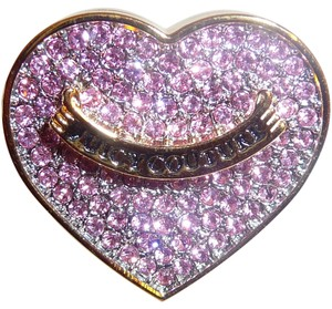 Juicy Couture Juicy Couture Juicy Loves Sephora Lip Gloss & Mirror Pink Rhinestone Pave Ring