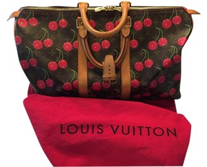Louis Vuitton Cerises Rare Monogram Speedy Cherries Monogram Cerises Travel Bag