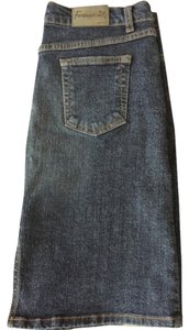 Forever 21 Skirt Semi Dark Wash