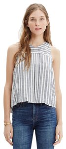 Madewell Crop Chambray Top Chambray Stripe
