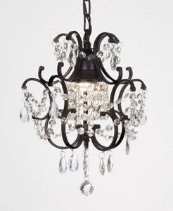 Brand New In A Box Crystal Black Chandelier Lighting