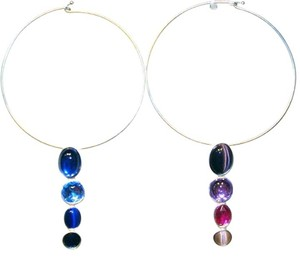 Other 90' Geometric Resin Jeweled Choker Necklace