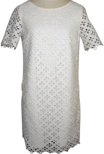 CATHERINE CATHERINE MALANDRINO short dress white Crochet Shift Little on Tradesy