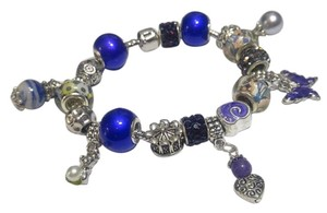 Other New European Charm Bracelet W/ 18 Removable Charms J2638