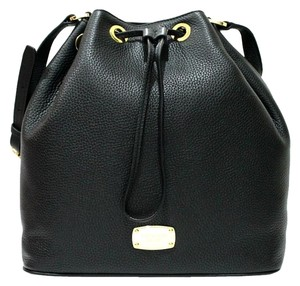 Michael Kors Large Jules Mk Drawstring Leather Bucket Shoulder Bag