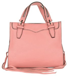 Rebecca Minkoff Blair Leather Silver Pink New With Tags Tote in Guava