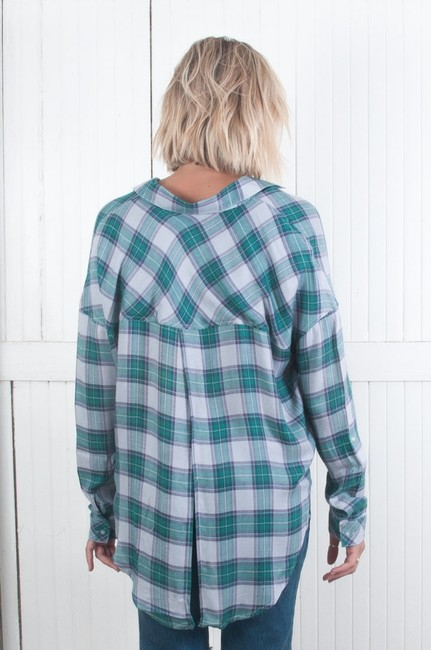 The Laundry Room Button Down Shirt BLUE Image 1