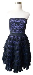 Betsey Johnson Lace Strapless Tiered Lined Crinoline Dress