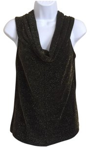 Alex Evenings Top Black And Gold
