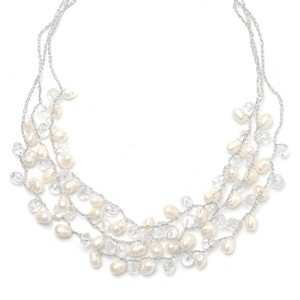 Mariell Genuine Freshwater Pearls 3-row Necklace