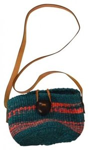 Bamboula Ltd. Market Sisal Leather Cross Body Bag
