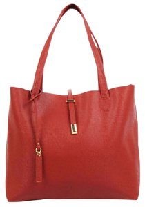 Vince Camuto Leila Leather Tote in Rust