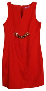Eliza J Textured Gold Hardware Chain Date Night A-line Dress
