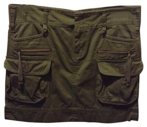 Calvin Klein Mini Skirt Olive green