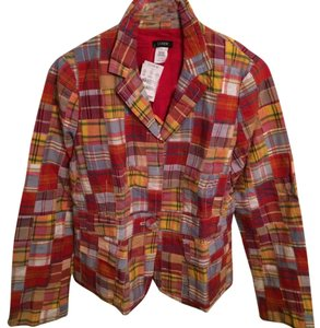 J.Crew Multicolor Madras Plaid Blazer