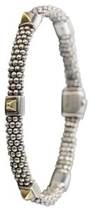 Lagos Lagos Sugarloaf 925 Silver and 18k (750) Gold Pyramid 5-Station Caviar Bracelet