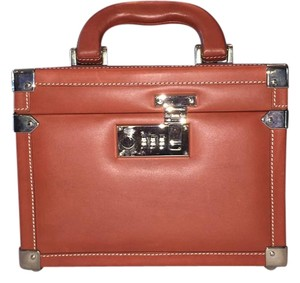 Dooney & Bourke Alto Leather Cosmetic Case Train Case & Orange Travel Bag