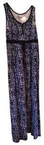 Navy, white print Maxi Dress by Eddie Bauer