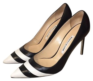 Manolo Blahnik Multi Color Leather - Black/White Pumps