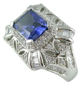 Victoria Wieck Victoria Wieck 5.81ct Absolute Tanzanite-Color and Clear Ring - Size 7