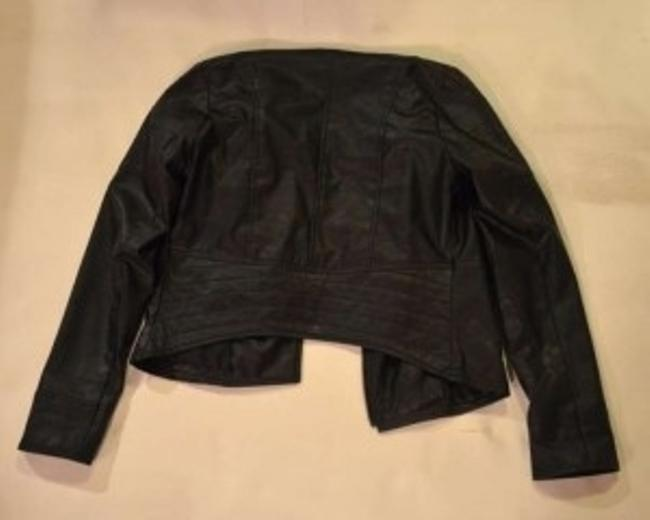 Pins and Needles Asymmetrical Leather Jacket