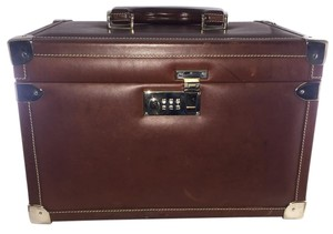 Dooney & Bourke Alto Leather Cosmetic Case Train Case & Brown Travel Bag