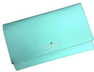 Kate Spade Leather Fresh Air (green/blue - aqua) Clutch