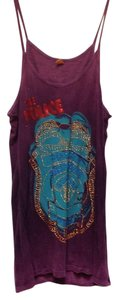 Amplified Sleeveless Cotton Print Top Ombre purple