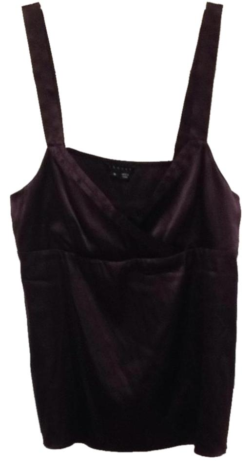 fbe24189916 Theory Brown Silk Blend V-neck Tank Top/Cami Size 8 (M)