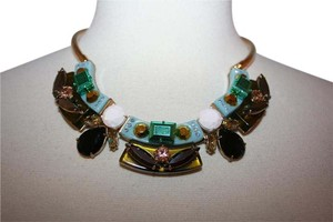 J.Crew J.CREW LUCITE-AND-CRYSTAL COLLAR NECKLACE