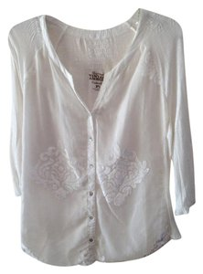 Nine West Button Down Shirt Ivory