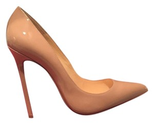 Christian Louboutin Patent Leather nude or beige Pumps