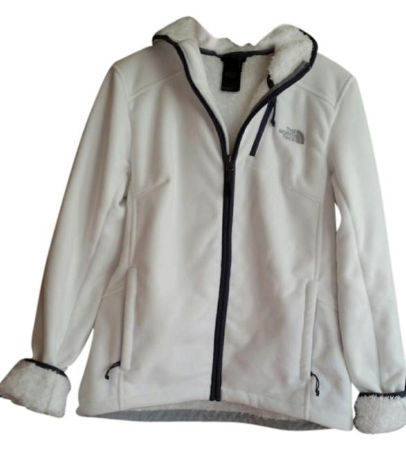 The North Face white/blue trimming Jacket