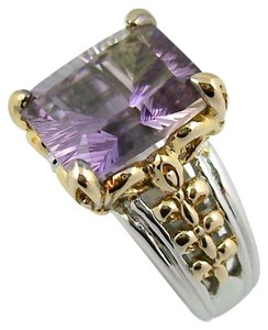 Victoria Wieck Victoria Wieck 4ct Ametrine 2-Tone Sterling Silver and Vermeil Concave-Cut Ring - Size 5
