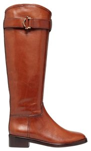 Tory Burch Grace Equestrian Brown Boots