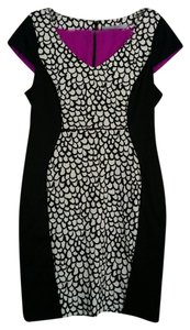 Marc New York Print Lbd A-line Stretchy Date Night Dress