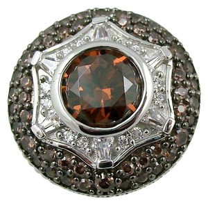 Victoria Wieck Victoria Wieck 3.38ct Absolute Chocolate and Clear Sterling Silver Ring - Size 7