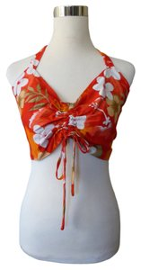 Hibiscus Collection Floral Hawaiian Halter Top