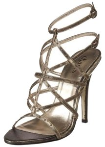 Charles by Charles David Stiletto Summer Pumps Gold Sandals