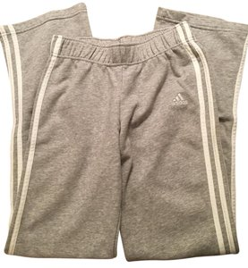 adidas Heather Lounging Athletic Pants Grey and White