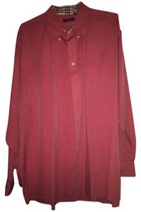Burberry London Button Down Shirt Red