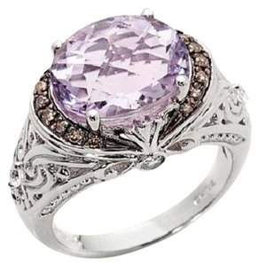 Victoria Wieck Victoria Wieck 4.02ct Pink Amethyst and Multigemstone Sterling Silver Ring - Size 9